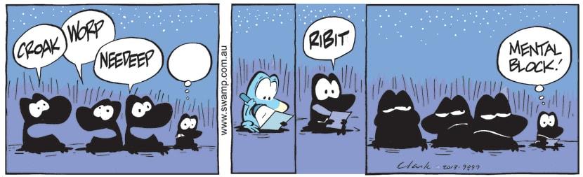 Swamp Cartoon of the Day - A Mental BlockAugust 2, 2021