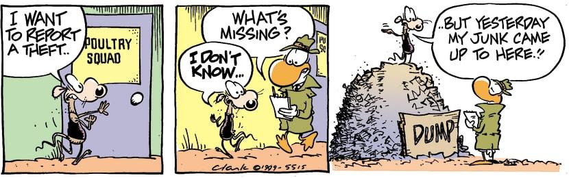 Swamp Cartoon - Chives Rat Theft ReportAugust 1, 1998