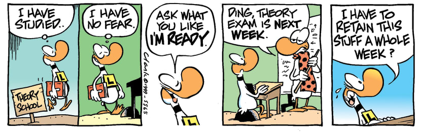 Swamp Cartoon - Ding Duck Studied HardJune 17, 1997