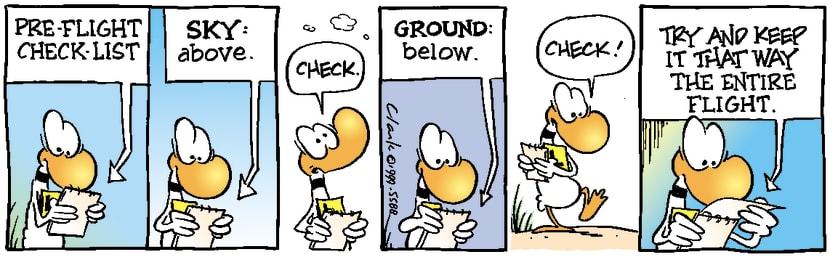 Swamp Cartoon - Pre-Flight Check ListJanuary 1, 1999