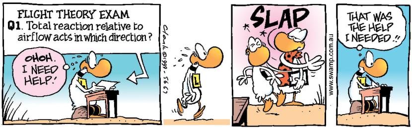 Swamp Cartoon - Ding Duck Needs HelpNovember 19, 1999