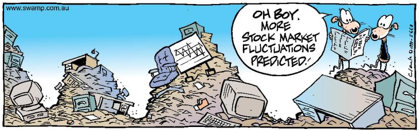 Swamp Cartoon - Swamp Rats Stock MarketNovember 20, 1999