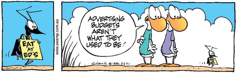 Swamp Cartoon - Ant AdNovember 24, 1999