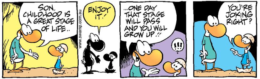 Swamp Cartoon - Baby Duck Growing UpNovember 27, 1999