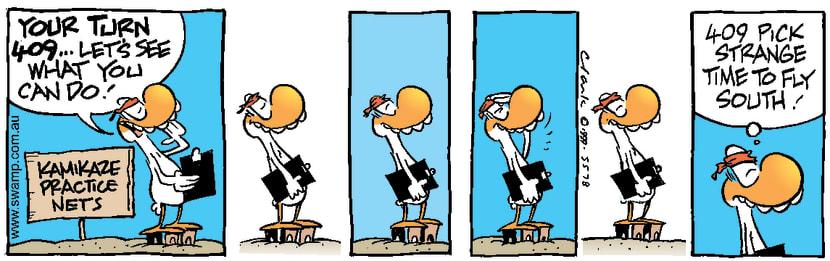 Swamp Cartoon - Kamikaze Duck WaitingDecember 2, 1999