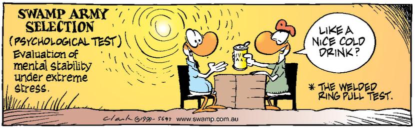 Swamp Cartoon - Army Psych TestDecember 20, 1999