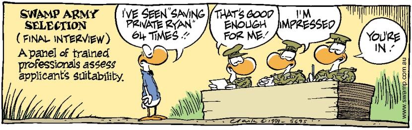 Swamp Cartoon - Army InterviewDecember 22, 1999