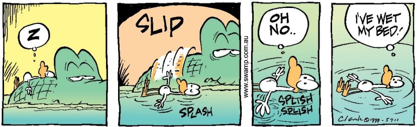 Swamp Cartoon - Rolling in sleepJanuary 10, 2000