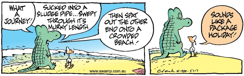 Swamp Cartoon - Old Man Croc Holiday ComicOctober 11, 2014