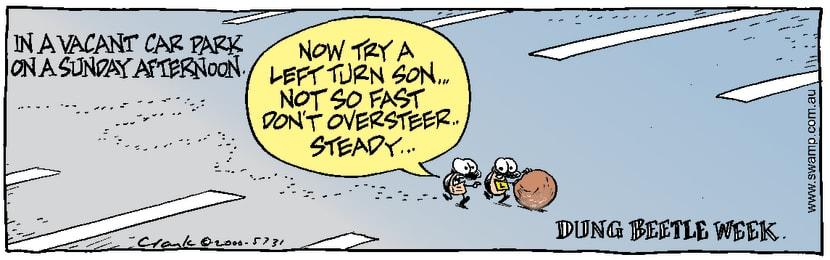 Swamp Cartoon - Dung Beetle WeekFebruary 2, 2000