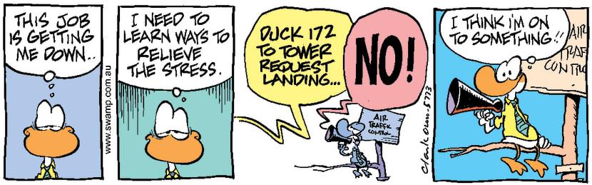 Swamp Cartoon - Dealing with StressMarch 21, 2000