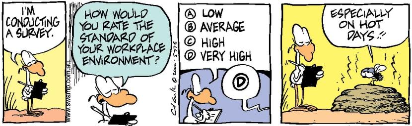 Swamp Cartoon - Workplace Survey ComicMarch 24, 2000