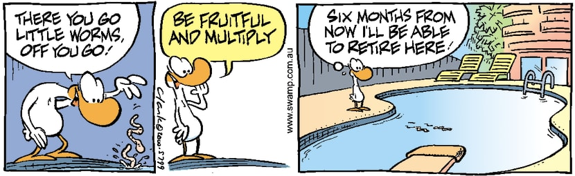 Swamp Cartoon - Early RetirementApril 20, 2000