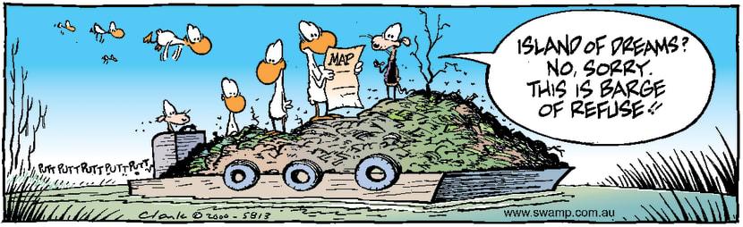 Swamp Cartoon - Island of DreamsMay 6, 2000
