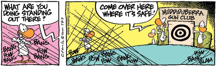 Swamp Cartoon - Target PractiseMay 13, 2000