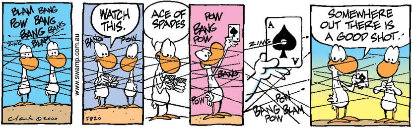Swamp Cartoon - Ace ShotMay 15, 2000
