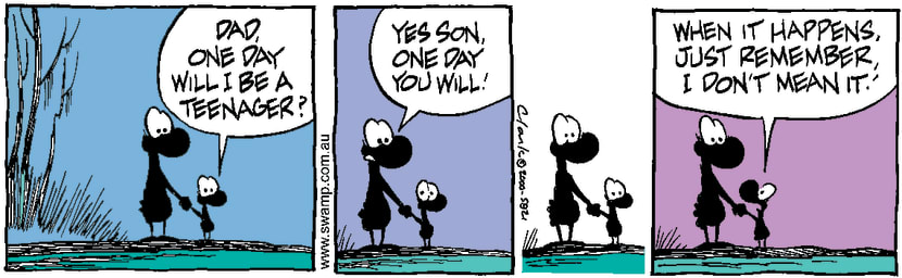 Swamp Cartoon - Growing UpMay 16, 2000