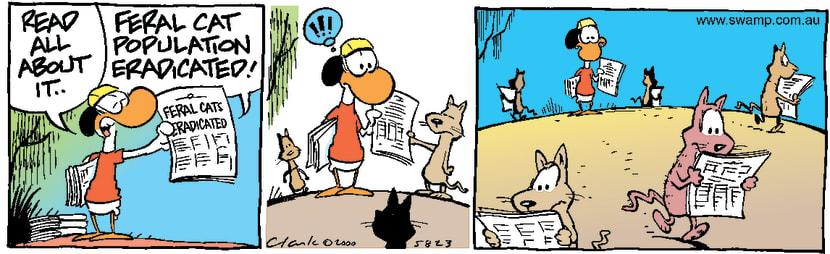 Swamp Cartoon - Feral Cats EradicatedMay 18, 2000