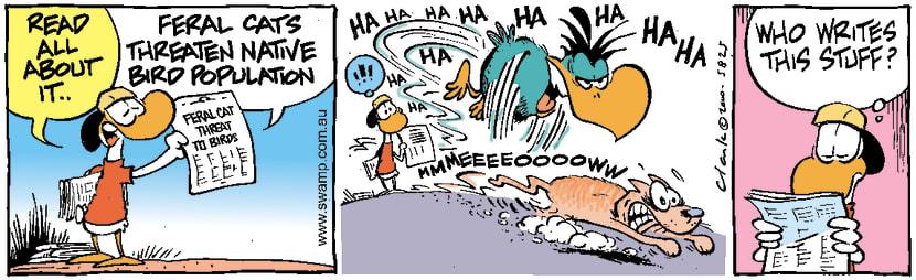 Swamp Cartoon - Feral Cat ThreatMay 20, 2000