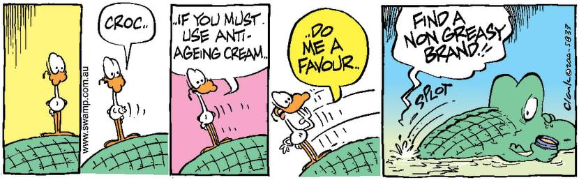 Swamp Cartoon - Slippery SolutionMay 30, 2000