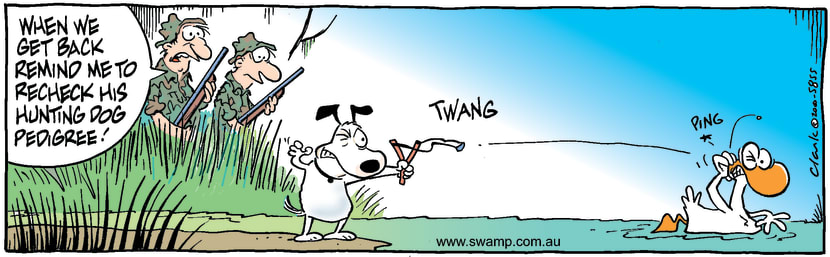 Swamp Cartoon - Duck Hunting Dog StyleJune 24, 2000