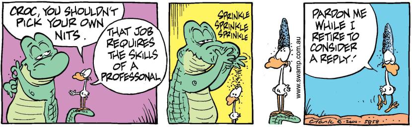 Swamp Cartoon - Show OffJune 28, 2000