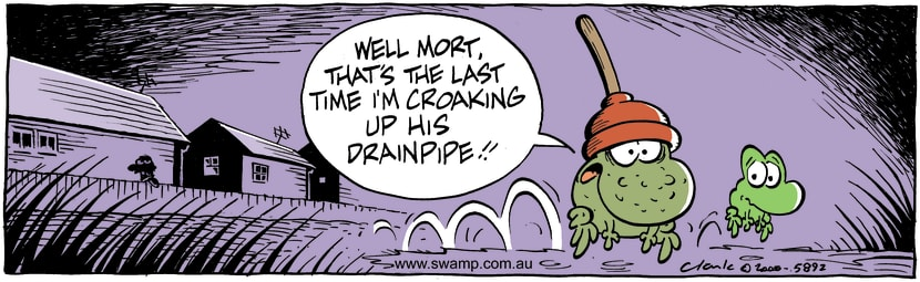 Swamp Cartoon - Last CroakAugust 7, 2000