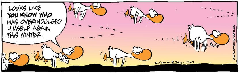 Swamp Cartoon - Over IndulgedAugust 18, 2000