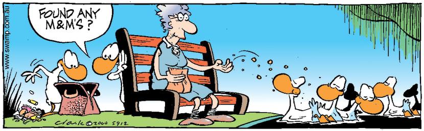 Swamp Cartoon - Sneaky DucksAugust 30, 2000
