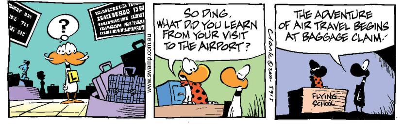 Swamp Cartoon - Airport AdventureSeptember 2, 2000