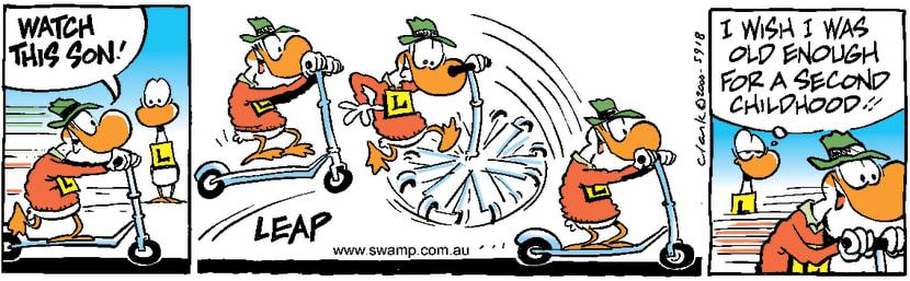 Swamp Cartoon - ScooterSeptember 6, 2000