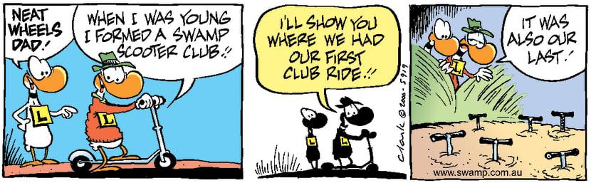 Swamp Cartoon - Scooter ClubSeptember 7, 2000