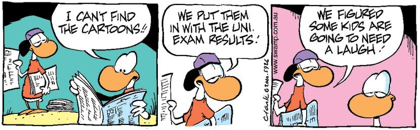 Swamp Cartoon - Exam ResultsSeptember 15, 2000
