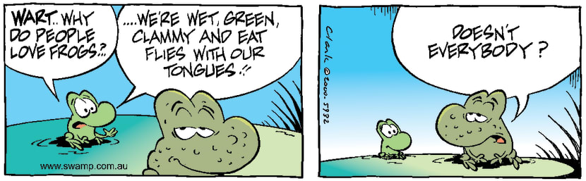 Swamp Cartoon - Why People Love FrogsSeptember 22, 2000