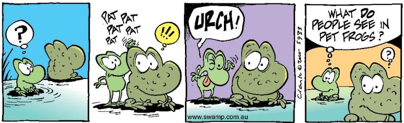 Swamp Cartoon - Pet FrogsSeptember 23, 2000