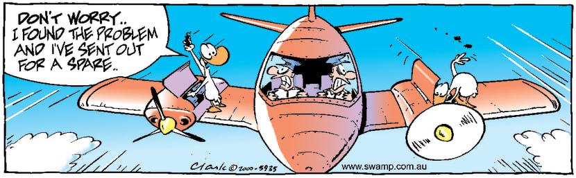 Swamp Cartoon - Problem SolvedSeptember 26, 2000