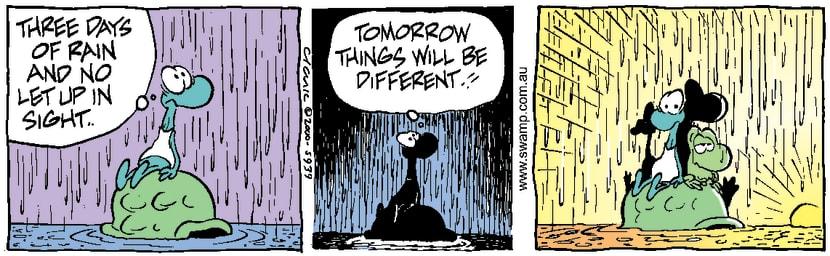 Swamp Cartoon - Weird WeatherSeptember 30, 2000