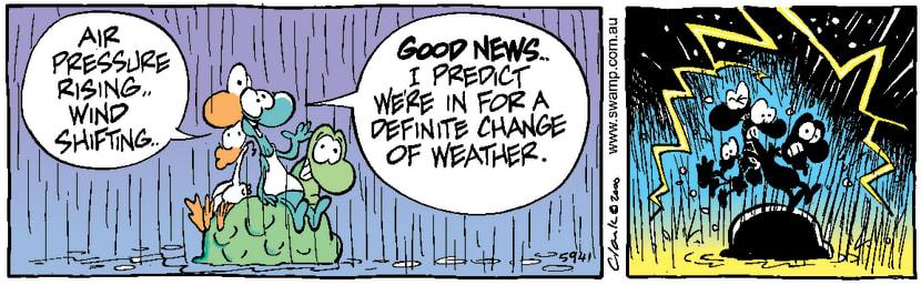 Swamp Cartoon - Weather ChangeOctober 3, 2000