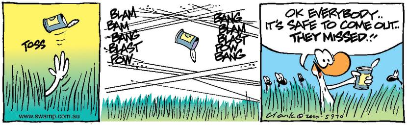 Swamp Cartoon - Duck SafetyNovember 6, 2000