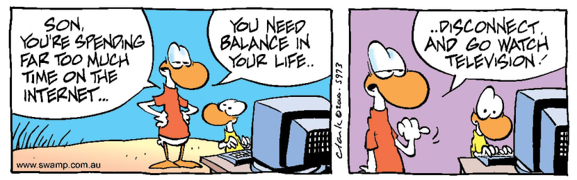 Swamp Cartoon - Balanced LifeNovember 9, 2000