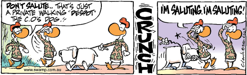 Swamp Cartoon - Despot Dog Bites HardDecember 13, 2000