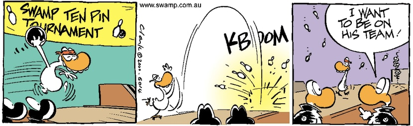 Swamp Cartoon - Kamikaze Bowling CompDecember 27, 2000