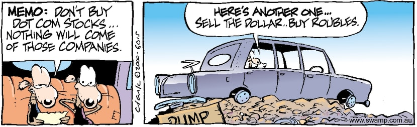 Swamp Cartoon - Swamp Rats Stockmarket TipsDecember 28, 2000
