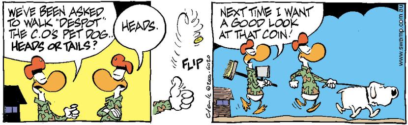 Swamp Cartoon - Walking Despot DogJanuary 3, 2001