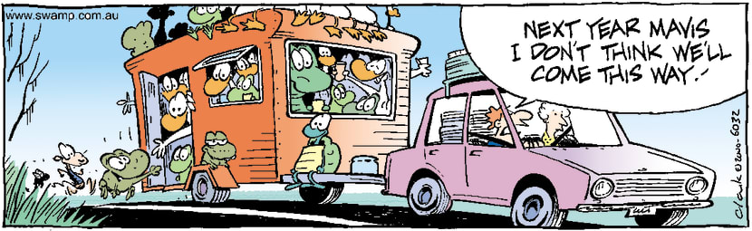Swamp Cartoon - Wildlife Travel With Tourists ComicJanuary 17, 2001