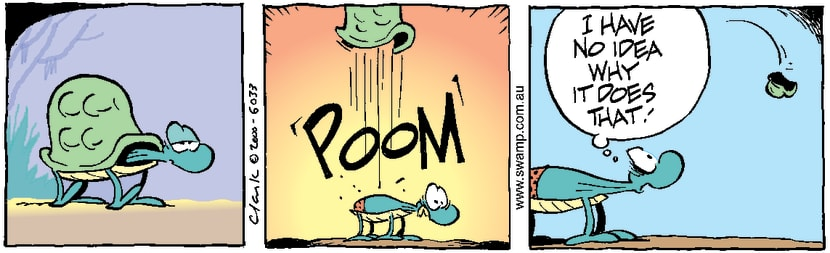 Swamp Cartoon - Detaching ShellJanuary 18, 2001