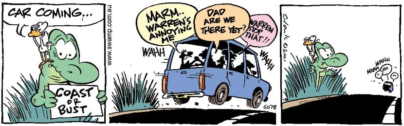 Swamp Cartoon - Hitch Hiker 3March 12, 2001