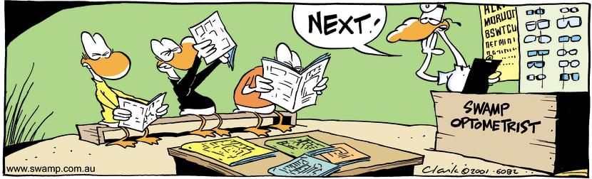 Swamp Cartoon - SquintersMarch 16, 2001