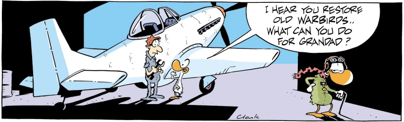 Swamp Cartoon - Old Warbirds ComicMarch 27, 2001