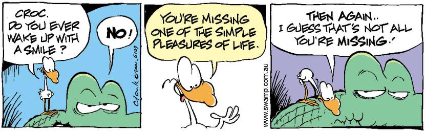 Swamp Cartoon - Never Smile CrocodileApril 17, 2001